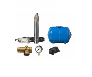 Ce contine un sistem din pompa submersibila cu presostat si vas tampon?